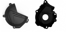 New Husqvarna FC 250 350 16 17 18 Clutch Ignition Cover Protector Combo Black